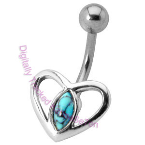 Heart - Turquoise - Belly Bar